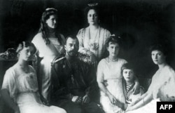 Tsar Nicholas II with his family in 1914, three years before they fell foul of the Bolshevik Revolution.