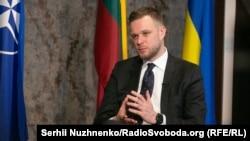 Литовският министър на външните работи Габриелиус Ландсбергис