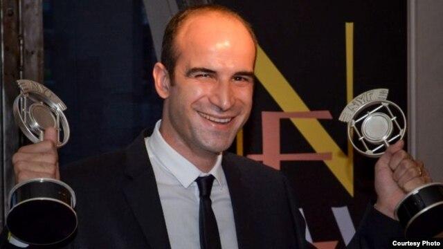 Farshid Manafi at New York Festivals award ceremony.