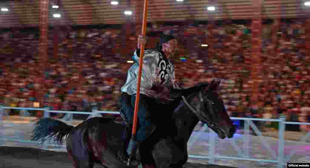 Kyrgyzstan,World Nomad Games. Cholpon-Ata. September 9, 2014.