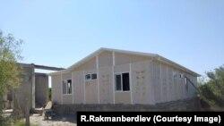 Строительство дома в селе Максат. 23 июля 2021 года.