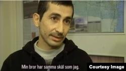 Ахмед Каруш - кадр из телевизионного фильма, снятого о сирийских беженцах в Швеции