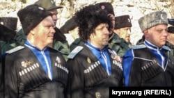 Казаки на праздновании российского «Дня защитника отечества» в Севастополе, 2020 год