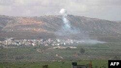 Ізраїль обстрілює позиції «Хезболли» біля селища Аль-Маджидія на півдні Лівану, 28 січня 2015 року