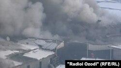 """Пожар на рынке """"Султони Кабир"""", 25 января 2021 года"""
