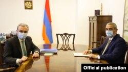 Հայաստանի և Արցախի ԱԳ նախարարների հանդիպումը Երևանում, 25-ը հունիսի, 2020թ.