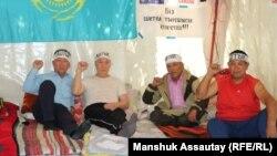 Казакстан. Ачкачылык жарыялаган активисттер. Алмата. 21-июнь, 2021-жыл.