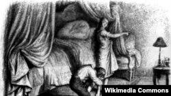 Анры Дэбушэ, Ілюстрацыя да кнігі Стэндаля «Чырвонае і чорнае» (1884).