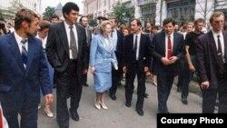 Борис Немцов и Маргарет Тэтчер в Нижнем Новгороде