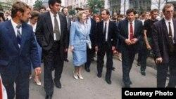 Борис Немцов и Маргарет Тэтчер, Нижний Новгород, 1994 год