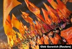 Оранжевая революция. Киев, площадь Независимости, 22 ноября 2004
