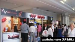 """Türkmentel-2011"" atly halkara sergisinde, 14-nji sentýabr."
