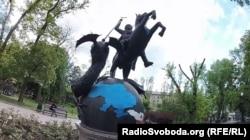 Парк кованых фигур в оккупированном Донецке