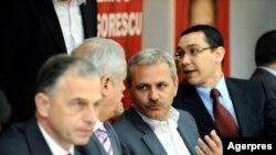Liviu Dragnea, Victor Ponta și Liviu Geoană la reuniunea Consiliului Executiv Național al PSD... în 2019