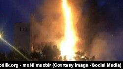 Пожар в бизнес-центре в Ташкенте. 19 сентября 2015 года.