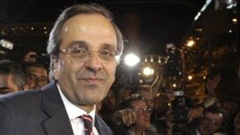 New Democracy leader Antonis Samaras (file photo)