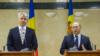 Ministrul român de finanțe Eugen Orlando Teodorovici și premierul Valeriu Streleț, Chișinău, 7 octombrie 2015