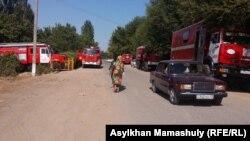 Автомобили пожарной службы в Ералиевском сельском округе. 2 августа 2016 года.