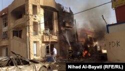 یکی از انفجارهای روز چهارشنبه در شهر کرکوک