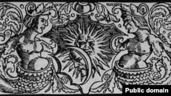 Адна з заставак да праскіх выданьняў Францішка Скарыны - малюнак «Русалкі», 1517 – 1519 гады. Выкарыстаны 8 разоў