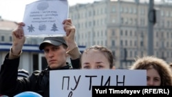 На митинге в защиту Байкала в Москве