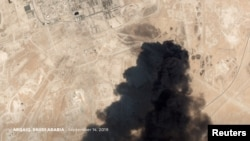 Pamje satelitore që shfaq sulmin me dron në rafinerinë e naftës në Arabinë Saudite.