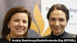 Марина Ставнійчук (ліворуч) та Юлія Новикова