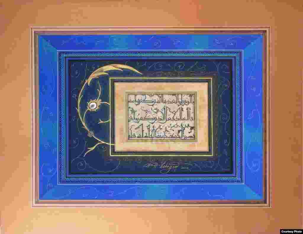 خط-نقاشی اثر امیرحسین ذکرگو