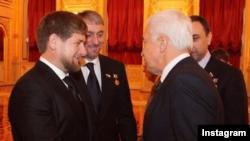 Рамзан Кадыров с Владимиром Васильевым (архивное фото)