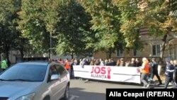 Protestul socialiștilor și al susținătorilor lui Renato Usatîi