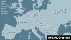 1914-жылдагы Европанын картасы