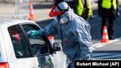 Nemačko-poljska granica tokom pandemije virusa korona (24. mart 2020)