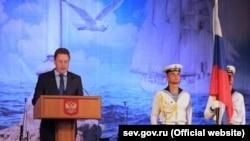 Т.в.о. губернатора Севастополя Дмитро Овсянников привітав севастопольців із Днем Військово-Морського Флоту