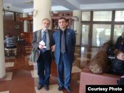 Yadigar Sadıqov (sağda) və Hikmət Hacızadə