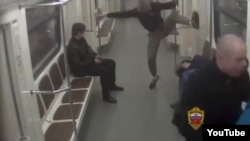 Russia - A group of neo-nazis attacked two Kyrgyz migrants in Moscow metro