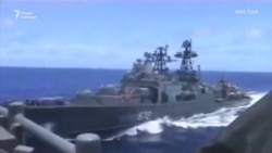 Российский эсминец чуть не столкнулся с крейсером ВМС США