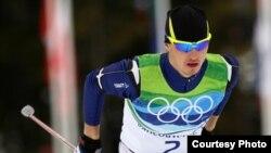 Казахстанский лыжник Алексей Полторанин на соревнованиях Олимпиады в Ванкувере (Канада).