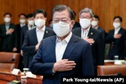 Президент Южной Кореи Мун Чжэ Ин, 30 марта 2020 г.