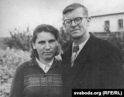 Ігар Самборскі з жонкай Еўдакіяй
