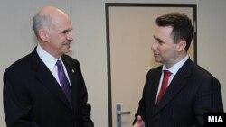 Премиерите на Македонија и Грција Никола Груевски и Јоргос Папанреду