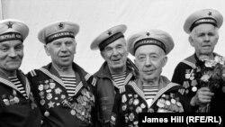 Ветераны Второй мировой войны в парке Горького