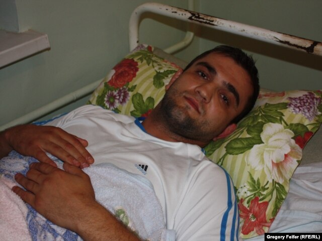 Magomed Getinov, a victim of a bomb blast at Makhachkala hospital.