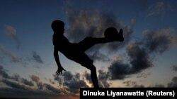 Футболист, архивное фото