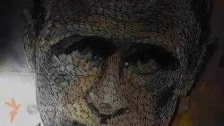 Украиналик рассом гильзадан Путин портретини ясади