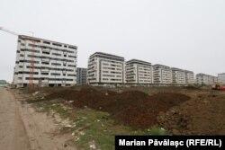Șantier din zona Militari, de la marginea Bucureștiului