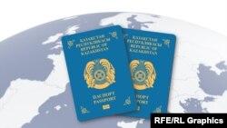 Казахстанские паспорта.