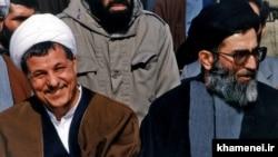 علی خامنهای رئیسجمهور وقت در کنار اکبر هاشمی رفسنجانی در دهه ۶۰ شمسی
