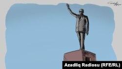 Monument To Heydar Aliyev (RFE/RL Azerbaijani Service)