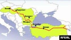 «Nabucco» kəmərinin ümumi xəritəsi
