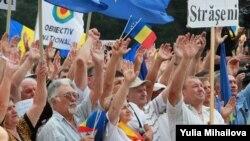 Кишиневтегі шерушілер. Молдова, 6 қыркүйек 2015.